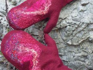 Валяние варежек или митенок. Елена Фадеева. Владивосток. | Ярмарка Мастеров - ручная работа, handmade