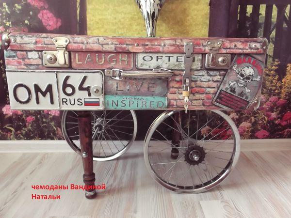 Новая жизнь старого чемодана и велосипеда