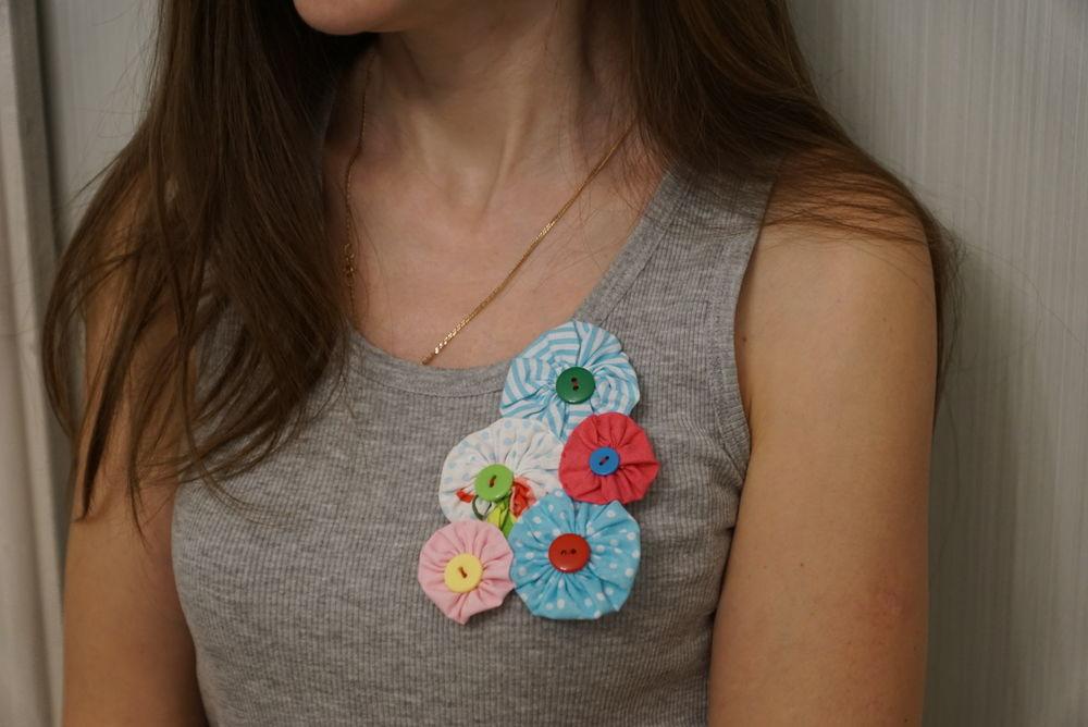 цветы, текстильная брошь, аксессуары