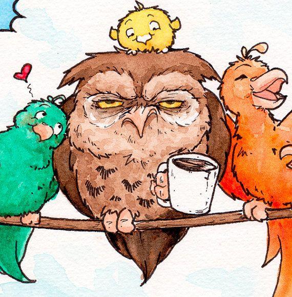 """Birds on a Wire"" illustration by Michaela Blassnig"