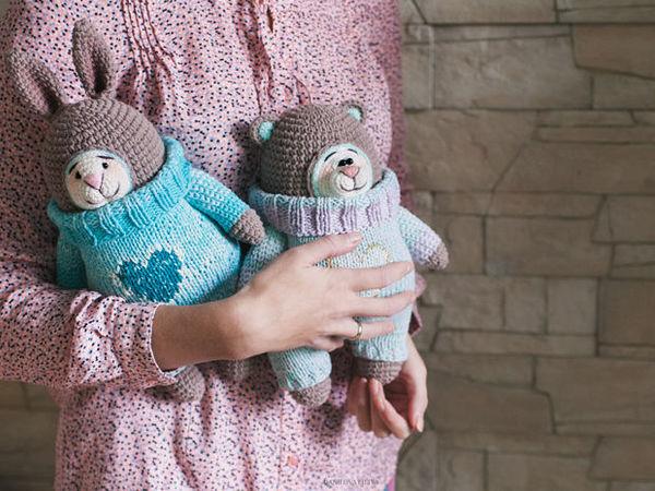 Мишка и Зайка | Ярмарка Мастеров - ручная работа, handmade