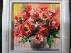 Розы к 8 марта. Розыгрыш картины. | Ярмарка Мастеров - ручная работа, handmade