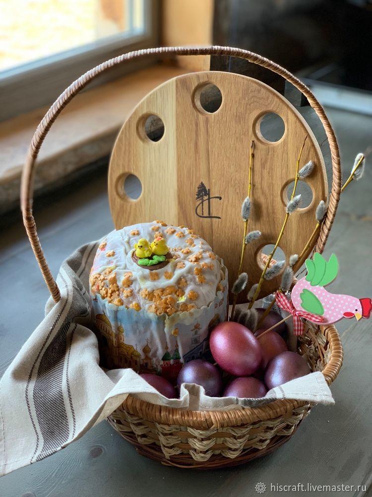 Изготавливаем пасхальную подставку для яиц и кулича, фото № 19