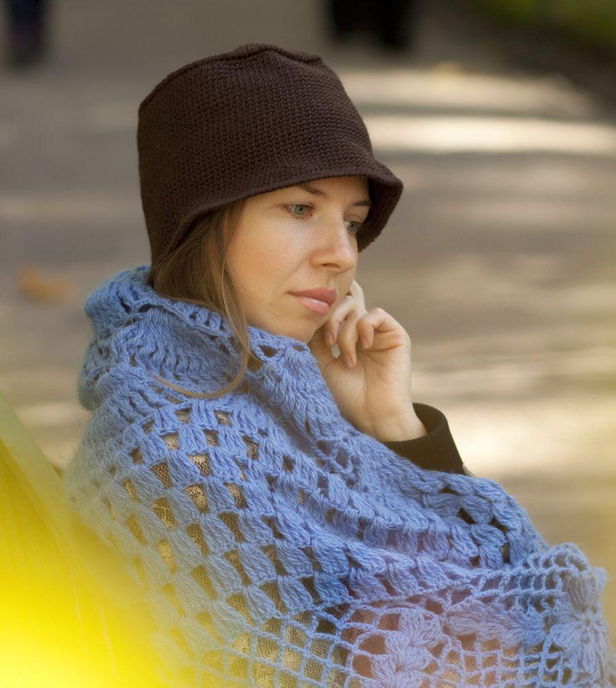 тёплая шапка, вязание спицами