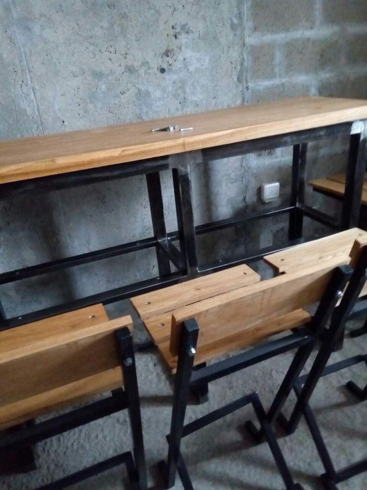 обеденный стол лофт, ресторанный стол