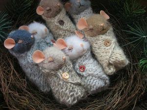 Гнездышко со спящими мышками)) | Ярмарка Мастеров - ручная работа, handmade