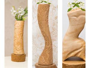 АУКЦИОН на ВАЗЫ ручной работы с резьбой по дереву. Ярмарка Мастеров - ручная работа, handmade.