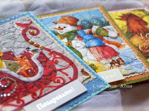 Новая коллекция открыток зима 2017г   Ярмарка Мастеров - ручная работа, handmade