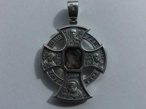 Крест новгородский с инталией   Ярмарка Мастеров - ручная работа, handmade