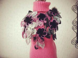 Оригинальные авторские шарфики с мехо и без!!!. Ярмарка Мастеров - ручная работа, handmade.