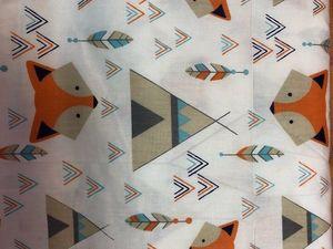 Наша новинка: Сатин Лисы и вигвамы. Ярмарка Мастеров - ручная работа, handmade.