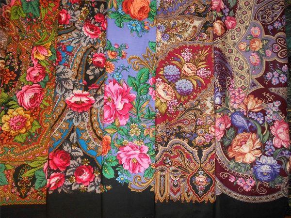 Не ткань, а букет цветов: символы узоров на павловопосадских платках | Ярмарка Мастеров - ручная работа, handmade