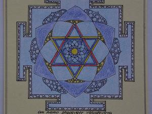 Панно для медитации. Янтра Луне. Ярмарка Мастеров - ручная работа, handmade.