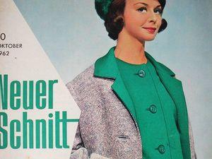 Neuer Schnitt — старый немецкий журнал мод 10/1962. Ярмарка Мастеров - ручная работа, handmade.