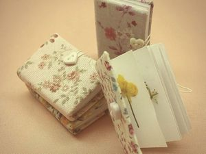 Miniature book-herbarium for the doll with his own hands
