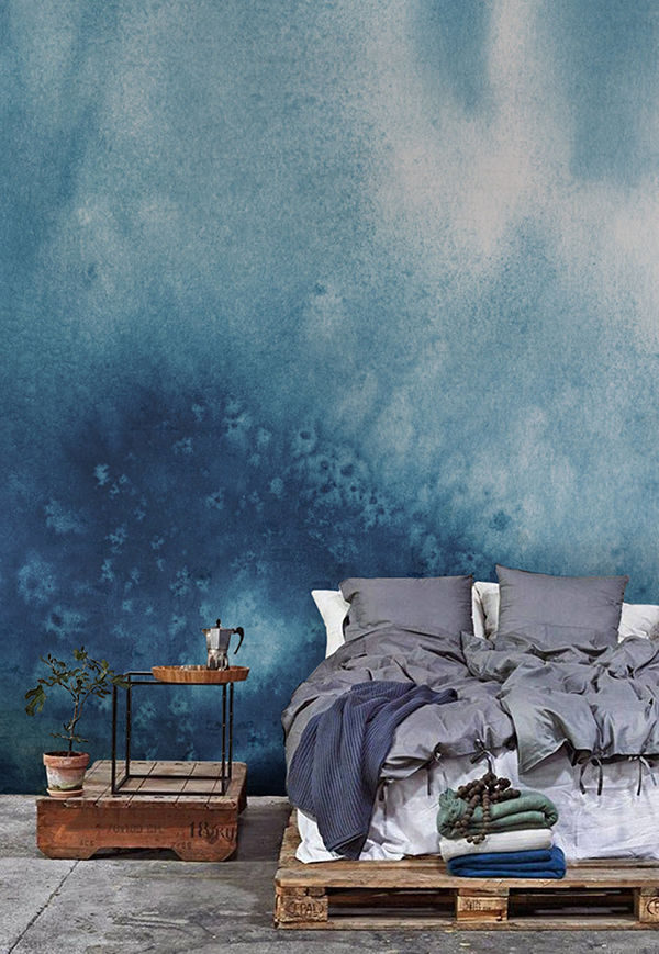 The Tenderest Interior: Abstract Watercolours on Modern Wallpapers, фото № 16