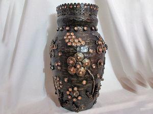 Как сделать вазу в стиле Стимпанк: видеоурок. Ярмарка Мастеров - ручная работа, handmade.