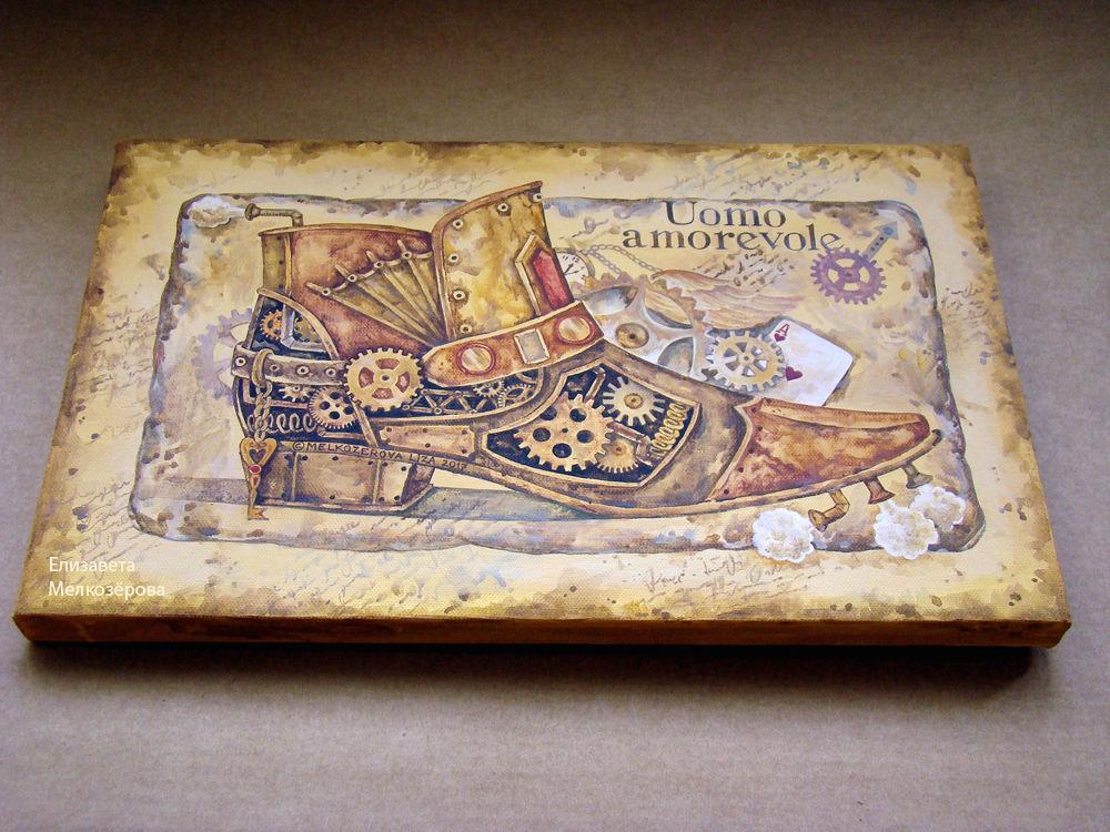 мужская обувь ботинок, мужской мужественный, символизм романтизм, авторская ручная работа