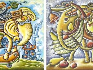 Два слоона. Ярмарка Мастеров - ручная работа, handmade.
