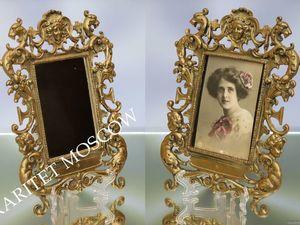 Фоторамка рамка зеркало ангел лев рог бронза 64. Ярмарка Мастеров - ручная работа, handmade.
