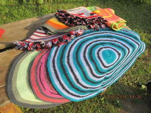 Осенняя распродажа деревенских вязанных ковриков. Ярмарка Мастеров - ручная работа, handmade.