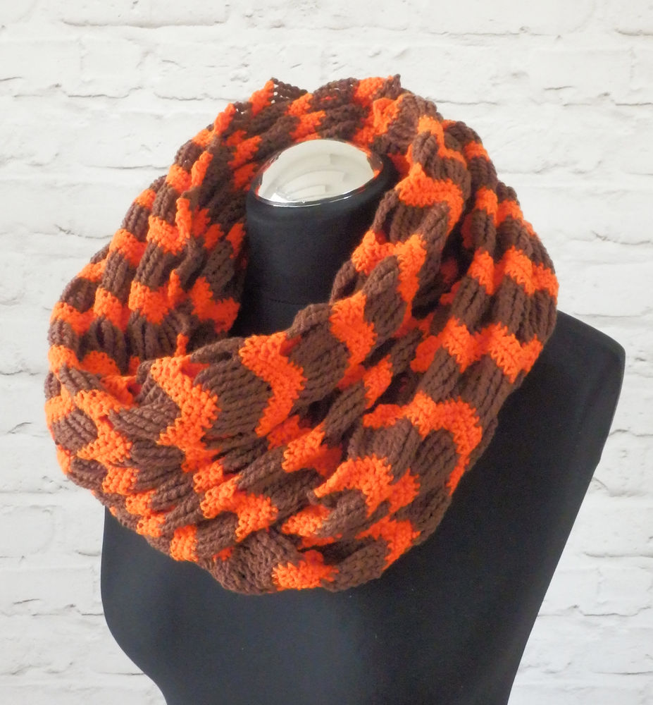 крючком, шарф, подарок женщине, осенняя мода 2016, коричневый