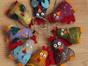 Веселые новогодние петушки. Мастерим с детьми | Ярмарка Мастеров - ручная работа, handmade