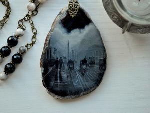 """Анонс новой миниатюры! Кулон """"Туманный Лондон"""". Ярмарка Мастеров - ручная работа, handmade."""