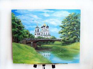 Видеобзор картина Псков. Ярмарка Мастеров - ручная работа, handmade.