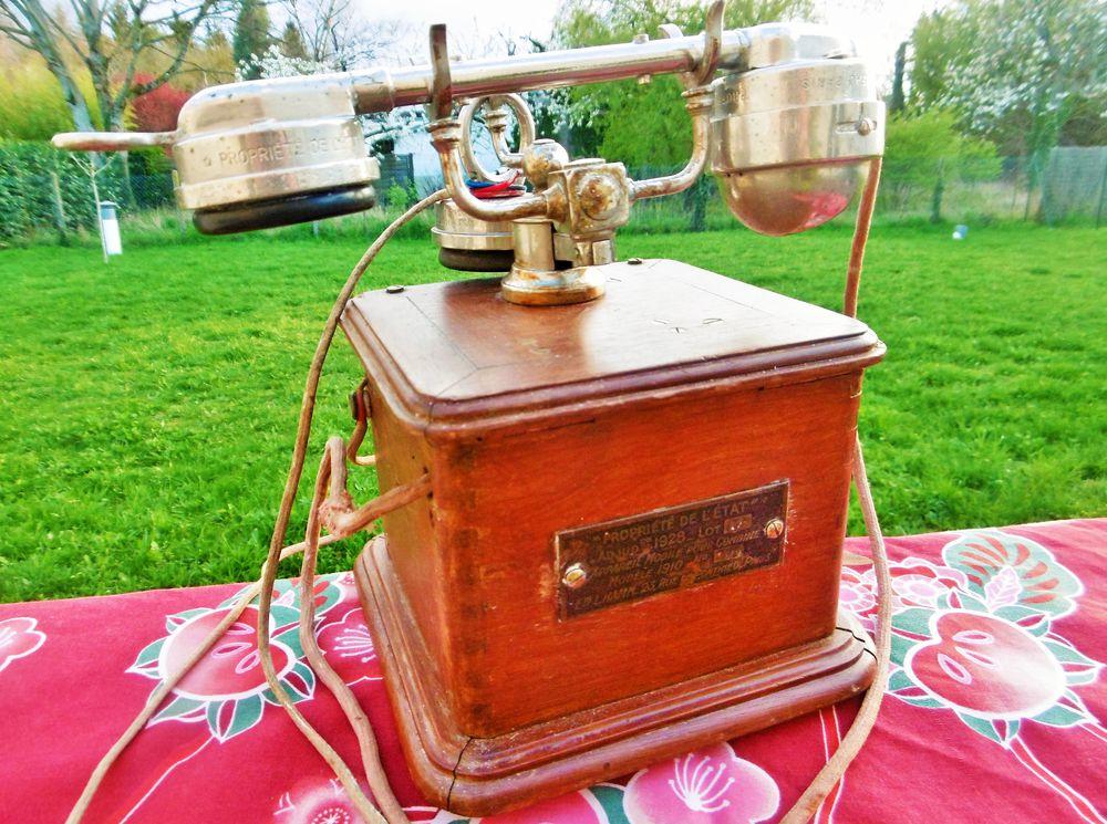 старинный телефон, винтаж из франции