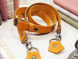 Кожаные ремни для сумок.. Ярмарка Мастеров - ручная работа, handmade.