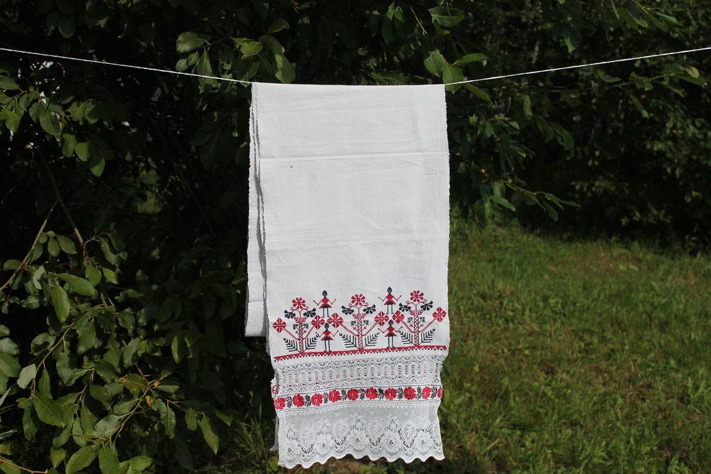 рушник, славянские символы, славянские традиции, натуральный лен