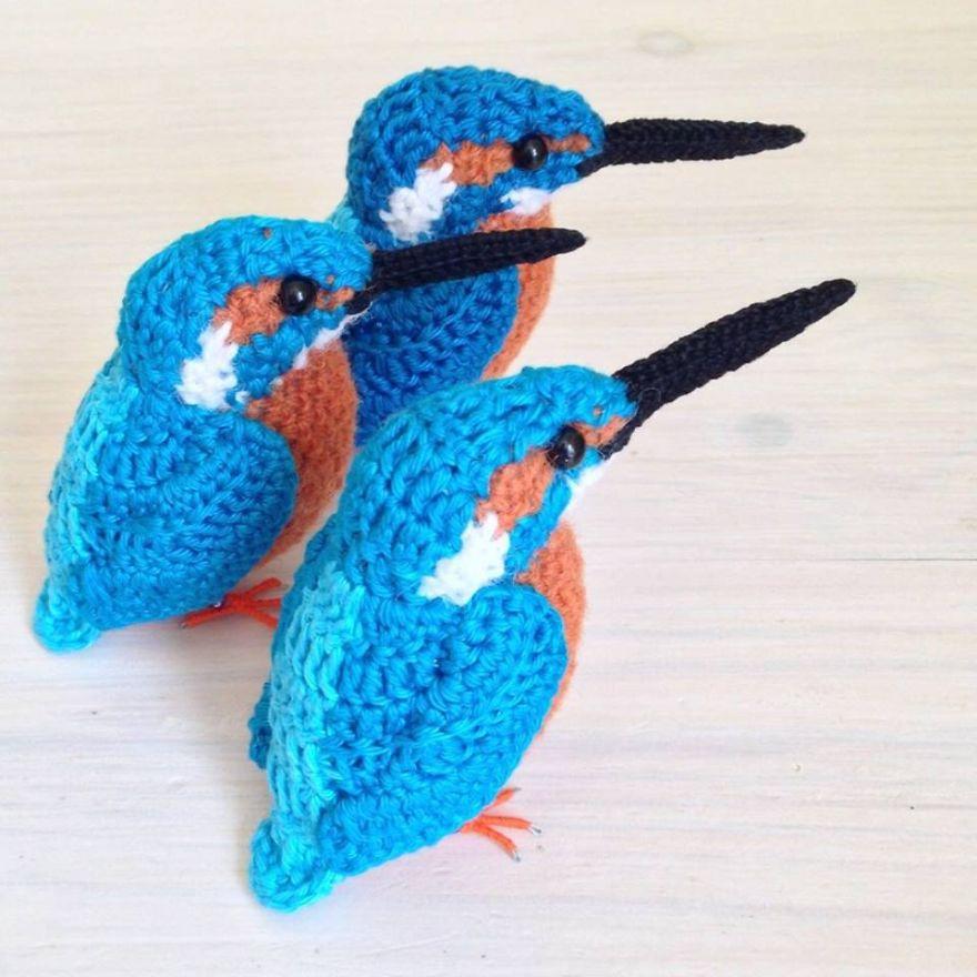 Вот-вот взлетят: реалистичные вязаные птицы Jose Heroys, фото № 10