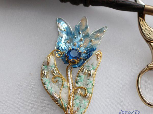 Вышиваем объемный цветок «Подснежник» | Ярмарка Мастеров - ручная работа, handmade