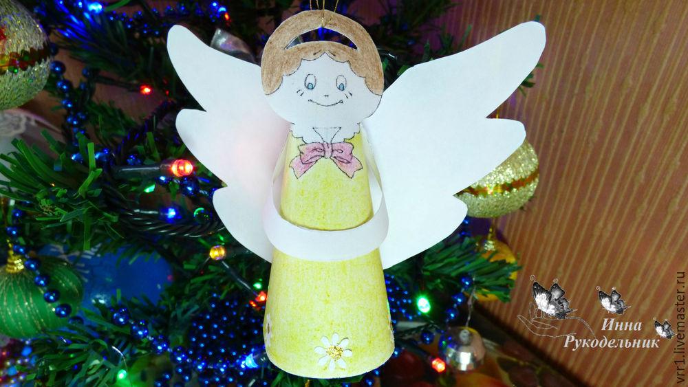 ангел, новый год, мастер-класс, творчество с детьми