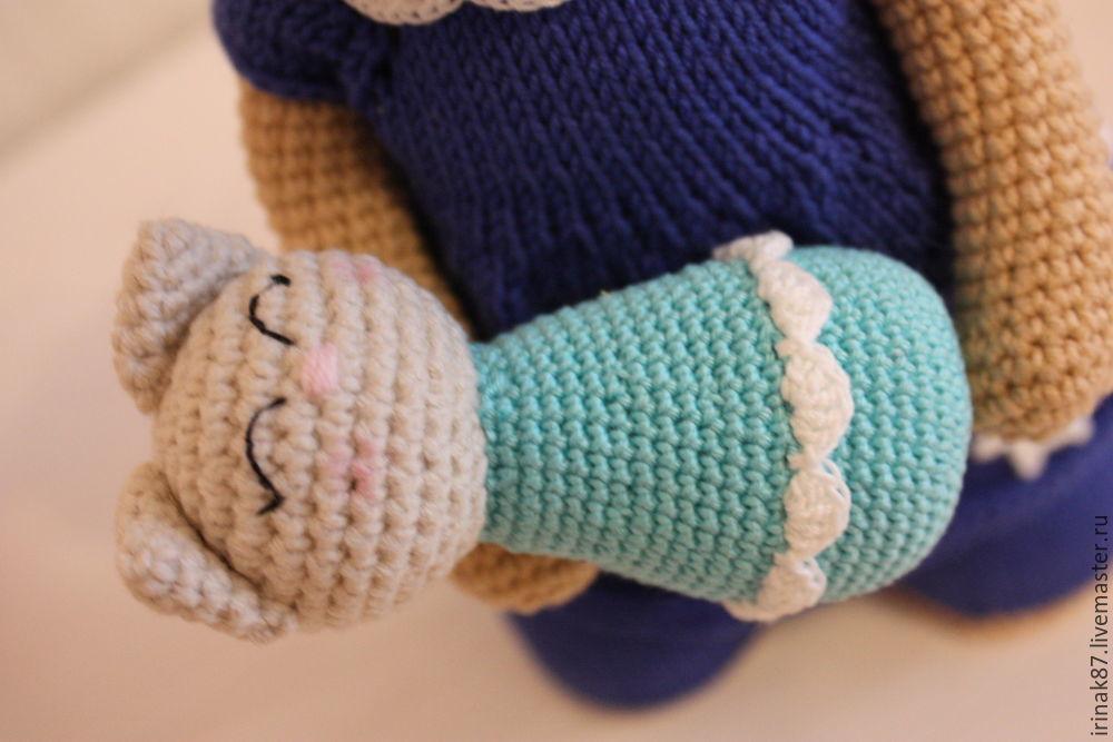 кошечка, вязание, подарок