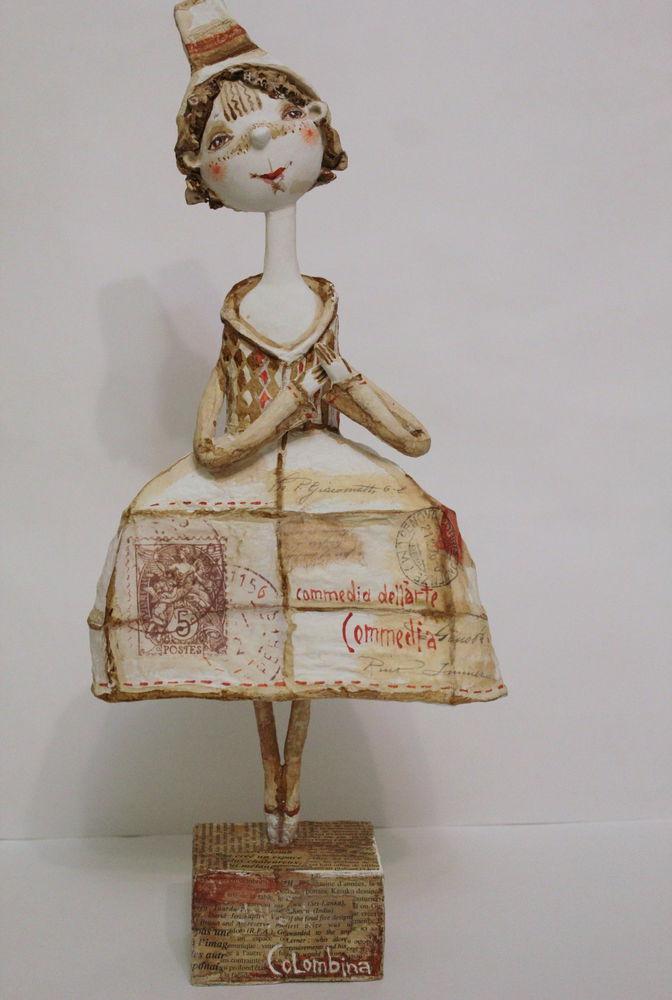 коломбина, коллекционная кукла