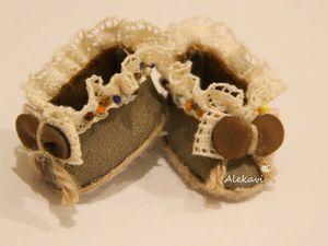 Мастерим туфельки из кожзама для куклы. Ярмарка Мастеров - ручная работа, handmade.