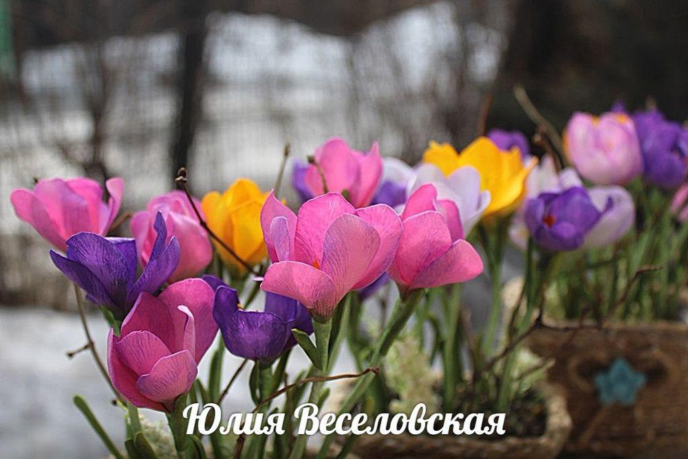 клевер ручной работы, подарки к 8 марта