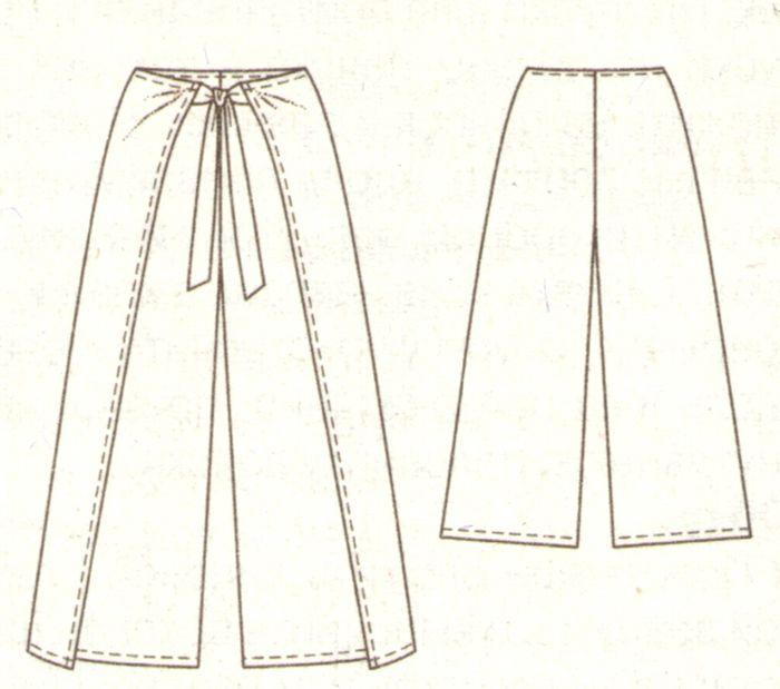 Выкройка брюк без швов