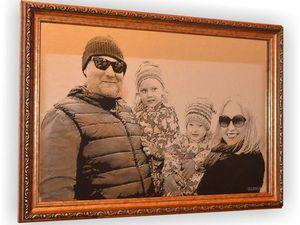 Портрет на зеркале Семья | Ярмарка Мастеров - ручная работа, handmade