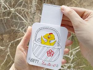 Видео мастер-класс: создаем пасхальную открытку-слайдер своими руками. Ярмарка Мастеров - ручная работа, handmade.