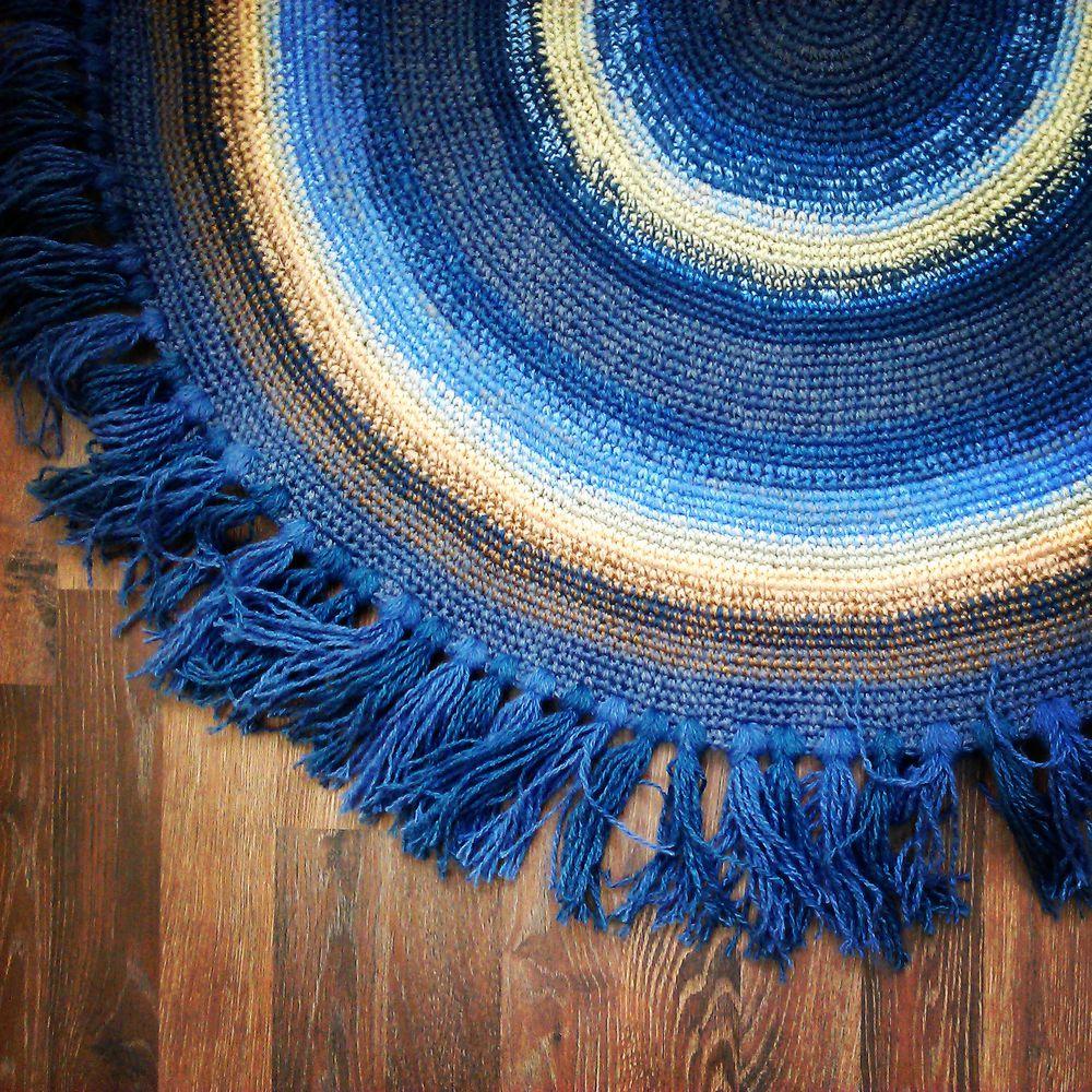 просто счастье, коврик, ковры, ковры ручной работы, бабушкин коврик, интерьер, текстиль для дома, русский стиль, весна, вязание крючком, загородный дом