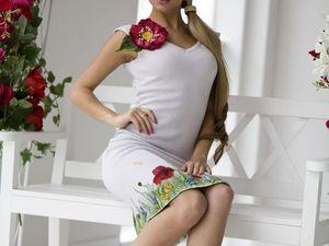 Аукцион на шикарное вязаное платьице с декором ручной работы!!!Старт 3000 р.!!!. Ярмарка Мастеров - ручная работа, handmade.