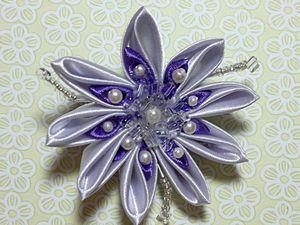 Создаём брошь-цветок в технике канзаши. Ярмарка Мастеров - ручная работа, handmade.