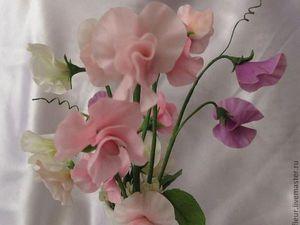 Новинка нашей студии - керамическая флористика (цветы из холодного фарфора) - Душистый горошек! | Ярмарка Мастеров - ручная работа, handmade