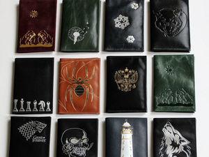 Скидка на готовые кожаные обложки для паспорта!!!. Ярмарка Мастеров - ручная работа, handmade.