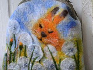 Валяем сумочки из кардочеса 17 марта.   Ярмарка Мастеров - ручная работа, handmade
