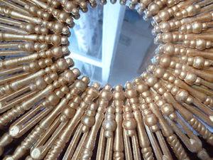 Мастерим интерьерное зеркало-солнце | Ярмарка Мастеров - ручная работа, handmade