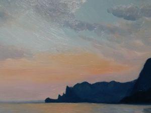 Пишем картину маслом «Черное море». Ярмарка Мастеров - ручная работа, handmade.